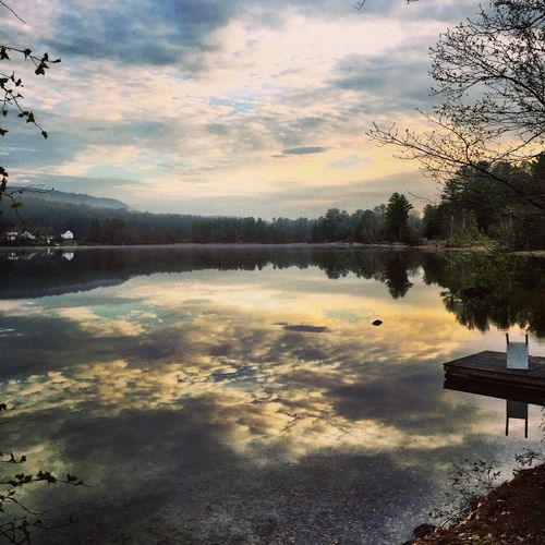 Bear Pond Reflection Water Lake Tranquil Scene Beauty In Nature Tranquility Cloud - Sky Nature Sky Scenics Tree Sunset Idyllic Outdoors Standing Water No People Day