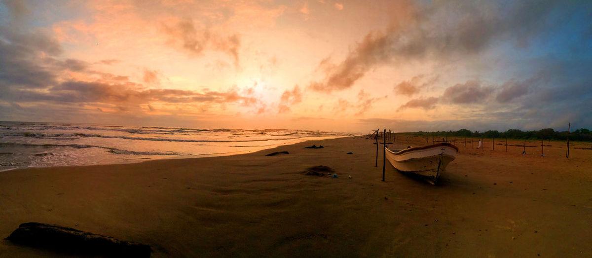 Beach Beauty In Nature Coastline Horizon Over Water Rio Chico Sand Sea Sky Sunset Tranquil Scene Travel Destinations Venezuela