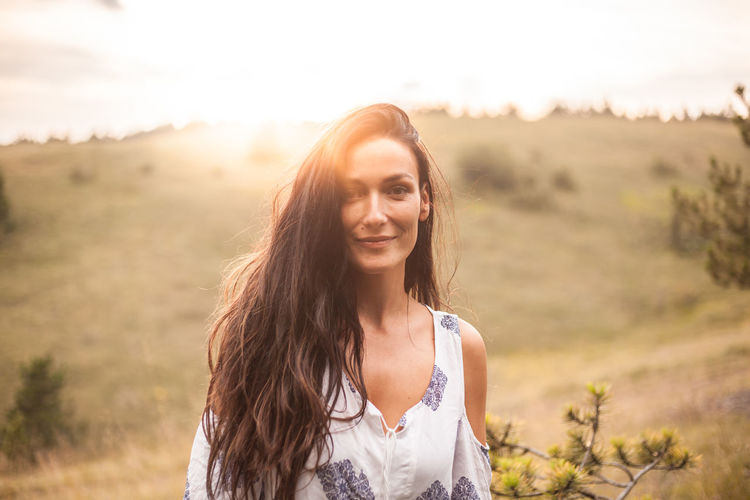 View Vecation Green Nature Happiness Long Hair Sunset Portrait Field Travel Boho Child Beauty Beautiful People Timothy Grass Wildflower Natural Beauty