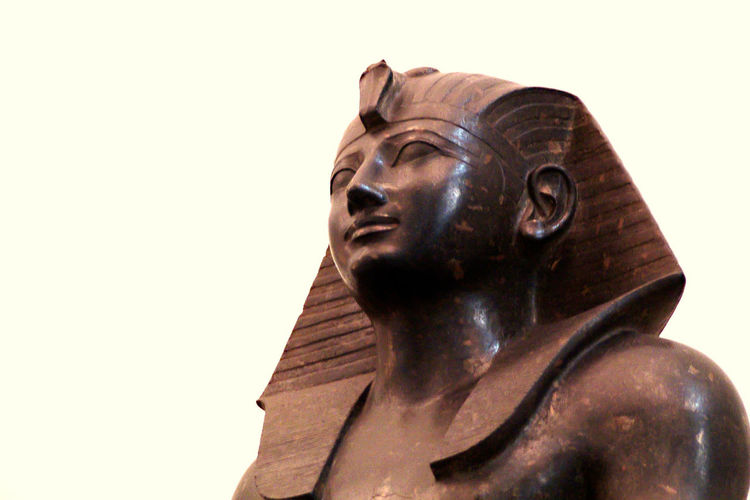 Art Art And Craft Close-up Creativity Cultures Egyptian Museum Of Turin Front View Head And Shoulders Headshot Human Face Human Representation King Thutmose III Looking At Camera One Person Ornate Person Portrait Religion Studio Shot Young Adult Young Men