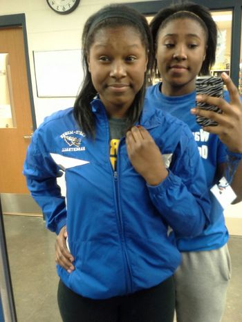 me and the Lil sis before gym .