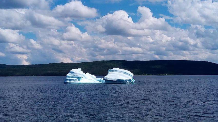 Atlantic Ocean Cloudy Icebergs Newfoundland Newfoundland, Canada Atlantic Coast Iceberg Summer