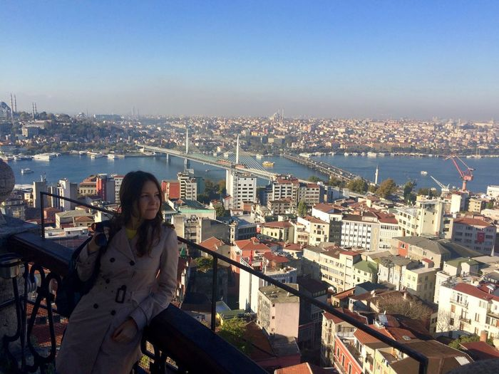 Architecture Built Structure Casual Clothing City City Life City Life Cityscape Cityscape Galata Tower Girl Istanbul Leisure Activity Lifestyles Outdoors Residential District Tourism Tourist Travel Destinations Travel Photography Turkey Young Women