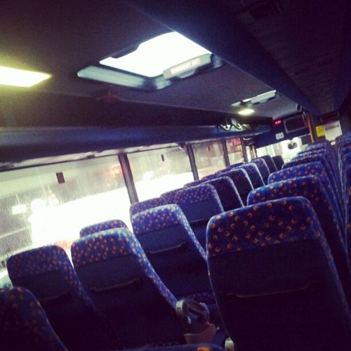 In the bus alone. Partay Bus Stagecoach LonelyIamSoLonely AllOnMyOwn