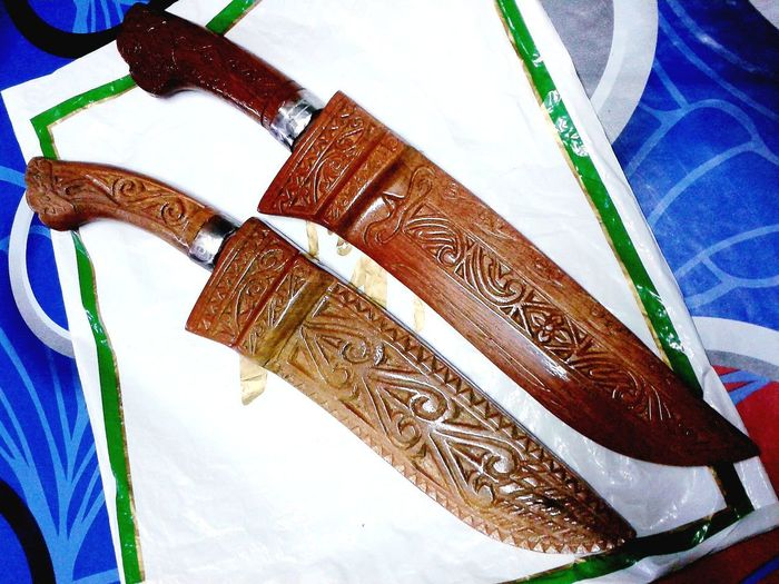 Made in Keningau, Sabah -MALAYSIA. Knife Knifemaker Abstract Wood Knife Skills Knife - Weapon Nice Wooden Texture Woods Wood Art Wood - Material Knife Art Knife Handle Multi Colored Paper Currency Wealth Close-up Craft ArtWork Art And Craft Craft Product Handmade Art