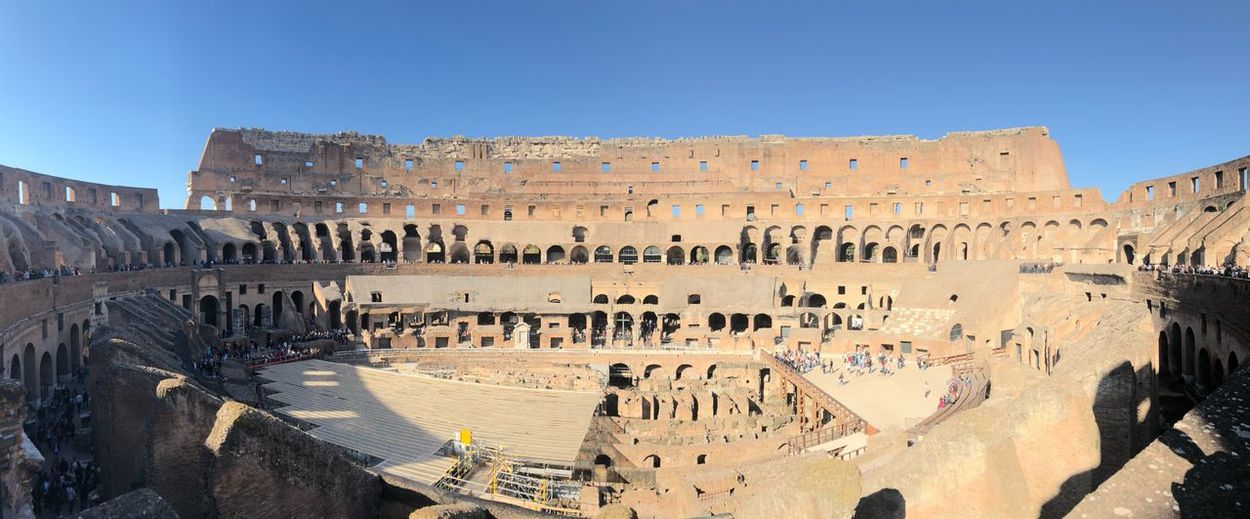 Collosseum🏆 Colosseum Colloseum EyeEm Selects Architecture Sky Built Structure Travel Destinations Travel Ancient Tourism Clear Sky History Nature The Past Ancient Civilization Day Outdoors Sunlight Building Exterior Old Ruin No People Archaeology Ruined