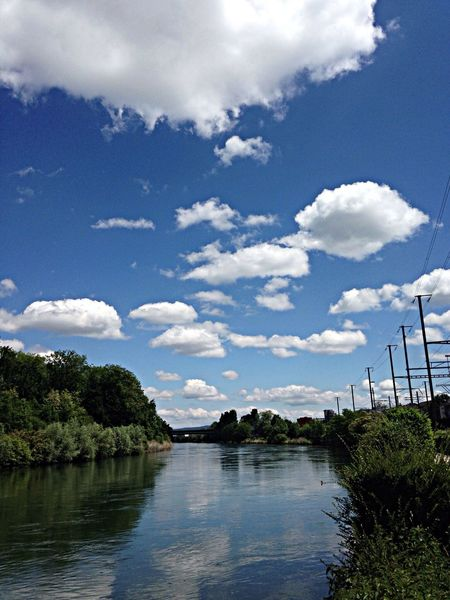 Spaziergang an der Limmat <3 Clouds And Sky Nature Reflection