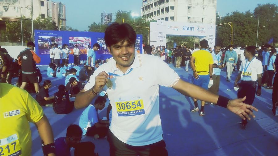 Got participated in Marathon Running In The City Ahmedabad Living Life Gangbang
