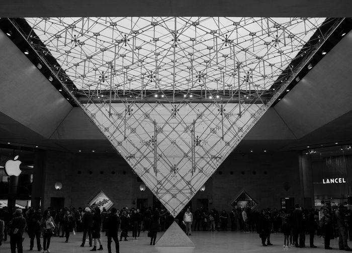 Louvren Paris France Louvremuseum Art Architecture Shapes
