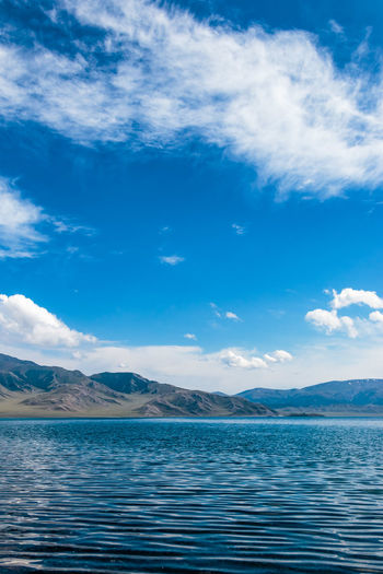 Beauty In Nature Blue Calm Cloud Cloud - Sky Cloudy Day Idyllic Lake Landscape Mountain Mountain Range Nature No People Non Urban Scene Non-urban Scene Outdoors Remote Rippled Scenics Sky Tranquil Scene Tranquility Water Waterfront