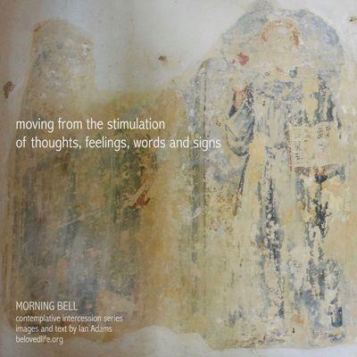 No4 in series 'in our prayers (contemplative intercession) Stillness Contemplation Prayer Cortona Shrine Wall Painting Away