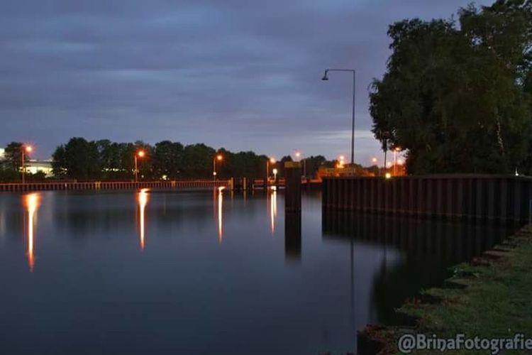 Night Reflection Water Outdoors LongTerm Lights In The Dark Longexposure Long Exposure Nightphotography Industry