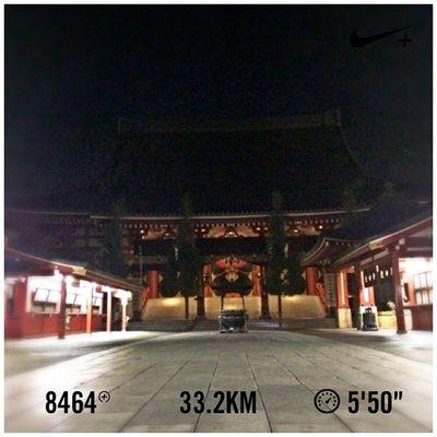 Running Tokyo Nike Run Japan Skytree スカイツリー GYAKUSOU 吾妻橋 浅草寺 Nikeplus 隅田川 ランニング Sumida ナイキ 隅田川テラス Sumidariver ラン 親水テラス 千住大橋 押上 晴海大橋 走り納め