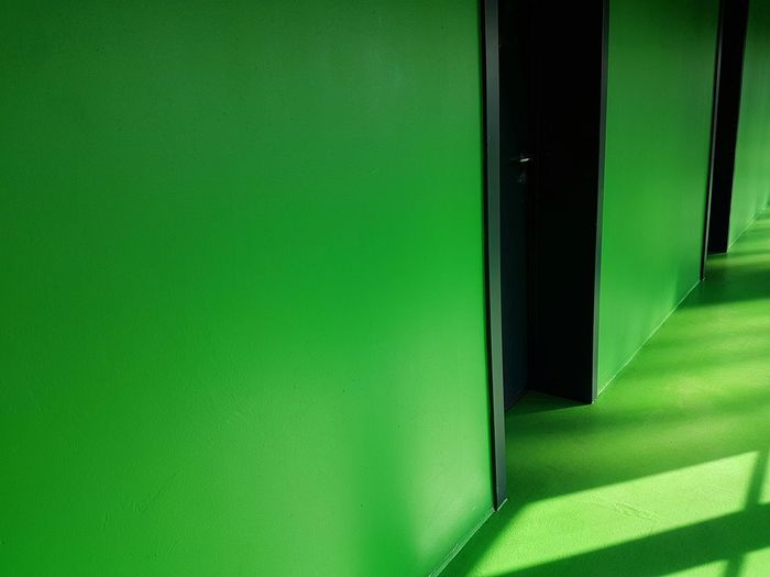 Very green Green Wall Green Floor Green Room Door Close-up Green Color Architecture Colorful
