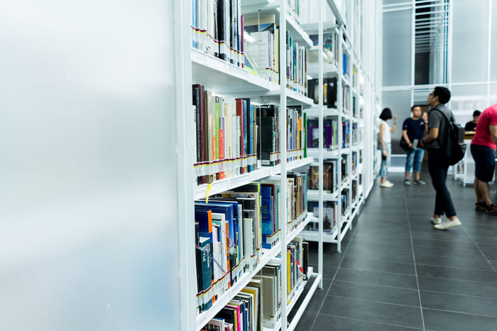Library and work space at TCDC, Thailand Architecture Book Bookshelf Concept Indoors  Library Library Lifestyle Lifestyles Modern Read Real People Shelf Source Work Space
