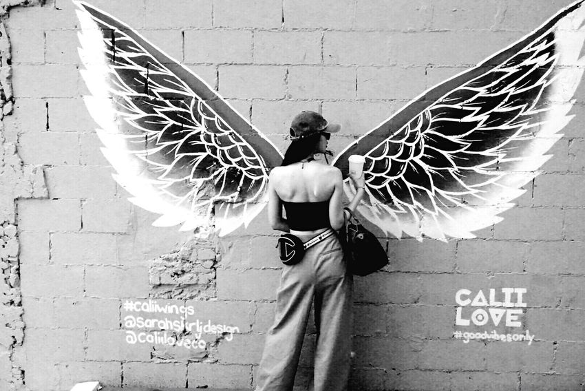 Got wings to fly Real People Wall - Building Feature Day One Person Built Structure Lifestyles Art And Craft