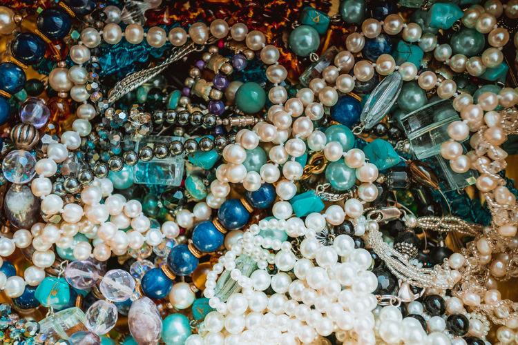 Full frame shot of pearls