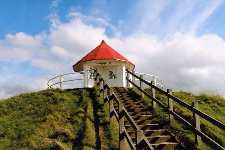 Blankenberge, Belgium Deserted Beach Belgium Hill Dunes Red Roof Blue Sky Peaceful Peace And Quiet Red Detail Belgian Coast Landscape Freshness Blankenberge Traveling Quiet Moments Tourist Simplicity Beachphotography Beach Life