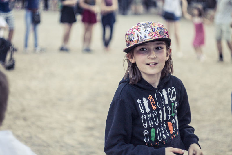 Belarus Castle Casual Clothing Cute Focus On Foreground Front View Happiness Kid Lida Lifestyles Outdoors Portrait Selective Focus Warm Clothing