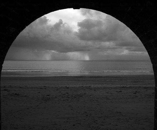 The Doorway A Beach Blackandwhite Horizon Horizon Over Water Land Sea Sky Water