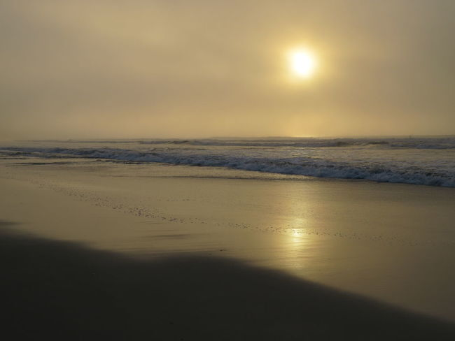 Perequê Açu Beach Beauty In Nature Day Foggy Morning Horizon Over Water Idyllic Landscape Moon Nature No People Outdoors Reflection Sand Scenics Sea Sky Sun Sunset Tranquil Scene Tranquility Water Summer Exploratorium