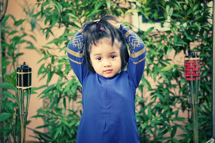 Enjoying Life Lifestyle Malay Aidilfitri Aidiladha Daughter Childhood One Person People Day Babies Only Outdoors Portrait Nature
