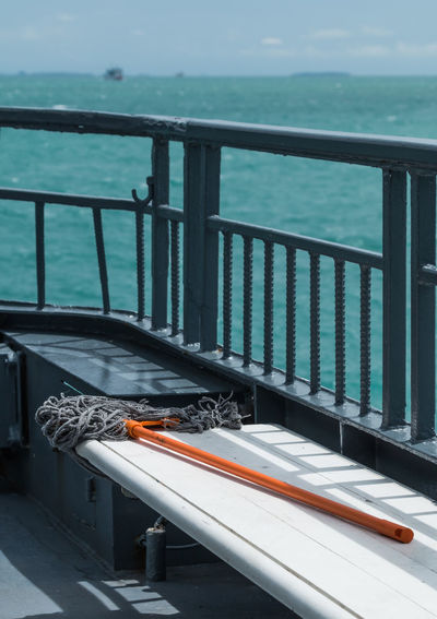 Mop On Bench At Pier