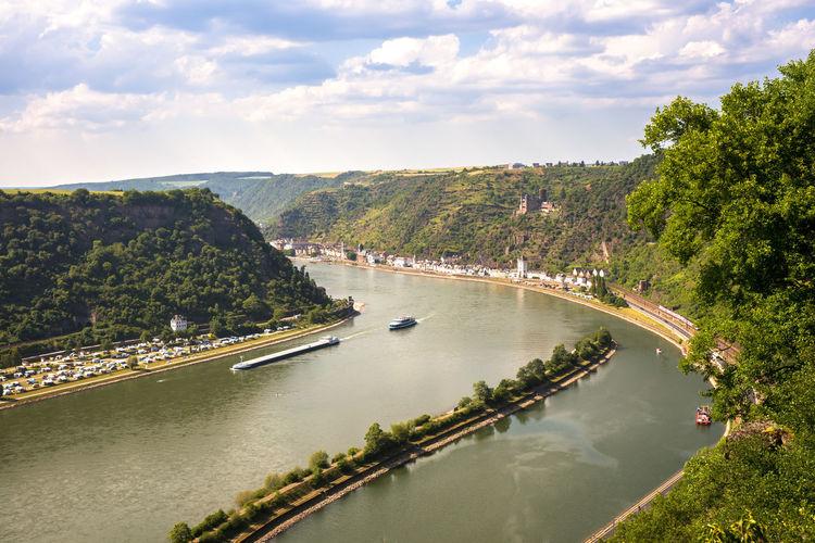Loreley Loreley Von Rhein Mittelrhine Rhein Rheinland-Pfalz  Rhine View Germany Landscape Loreley Loreleyfelsen Middlerhine Mittelrheintal No People Nobody Water