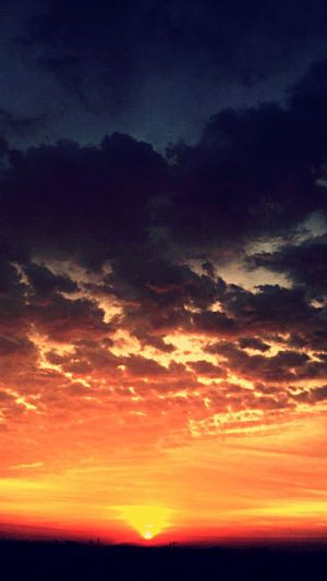 Sunrise 🌞🌄 Sunset Beauty In Nature Sky Dramatic Sky Scenics Nature Orange Color Silhouette Cloud - Sky Tranquil Scene Tranquility Dusk Moody Sky Idyllic Cloudscape Awe Romantic Sky Heaven Outdoors Landscape First Eyeem Photo
