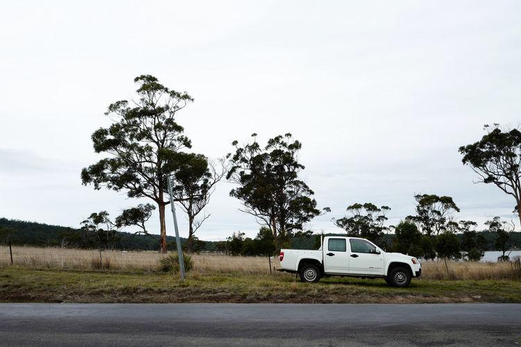 Shot in Tasmania, Australia. Adventure Car Day Driving Journey Land Vehicle Landscape Nature No People Outdoors Road Road Trip Sky Transportation Tree