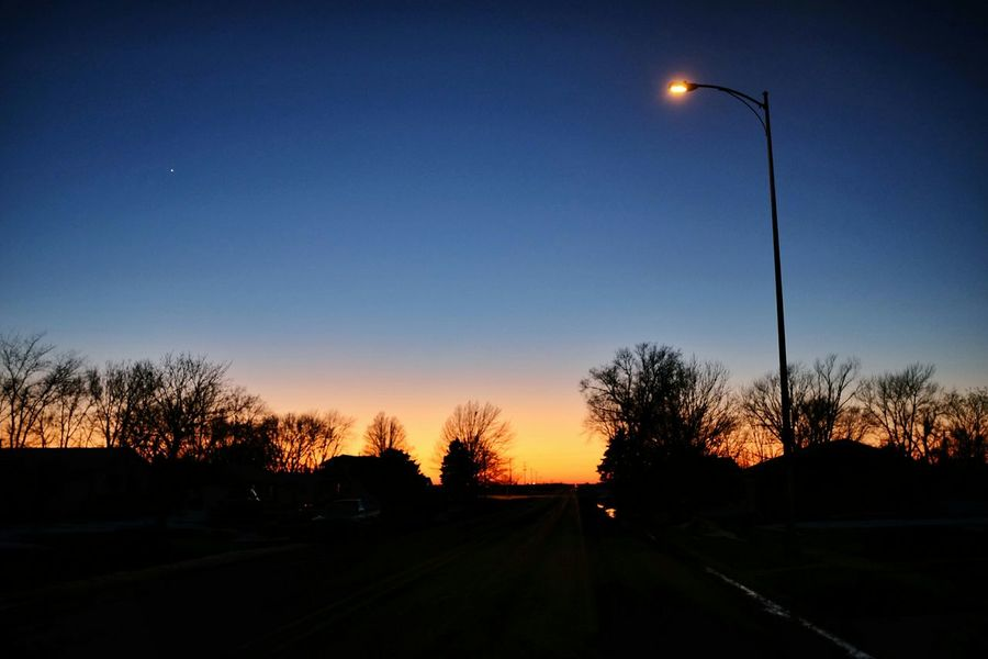 Make a wish Starlight On The Road Nighttime Lights Deep Blue Sky Rural America Night Photography Street Light The Places I've Been Today Twilight Sunset Silhouettes