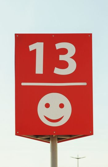 Friday 13 Friday 13th Abstract Minimalism Road Sign Red Close-up Directional Sign Number Information Sign Information Symbol Signboard
