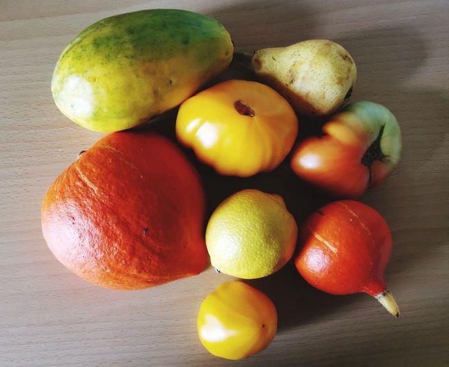 Orange, Yellow,