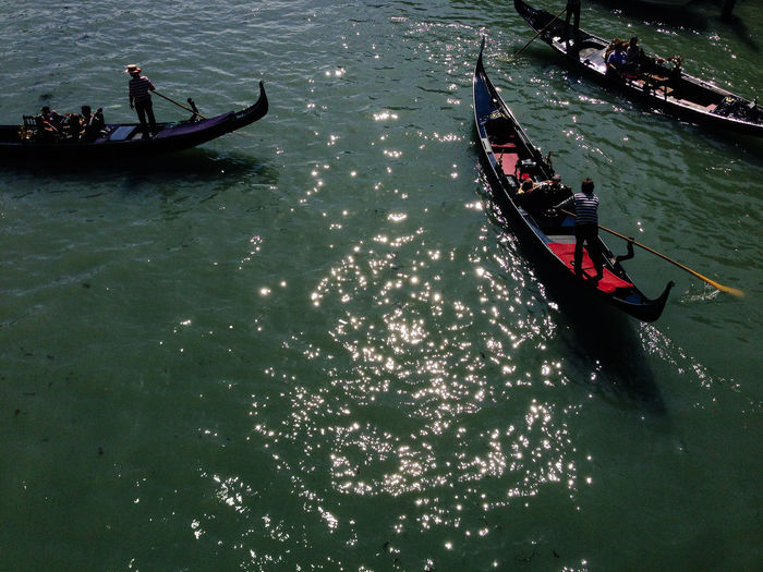 Venice, Italy Adult Canal Day Gondola Gondola - Traditional Boat Gondolier High Angle View Large Group Of People Nature Nautical Vessel Oar Outdoors People Real People Rowing Transportation Travel Venice Water