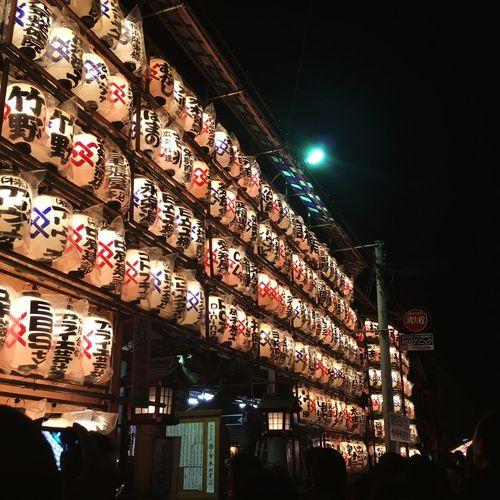 Tori No Ichi Tori No Ichi Festivity In Japan Shrine Night Illuminated Lighting Equipment Built Structure Architecture Decoration Low Angle View