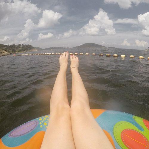 Floating Bigwavebay Seaside Relax Gopro4 Lostatsea Hotdogsorlegs Summer
