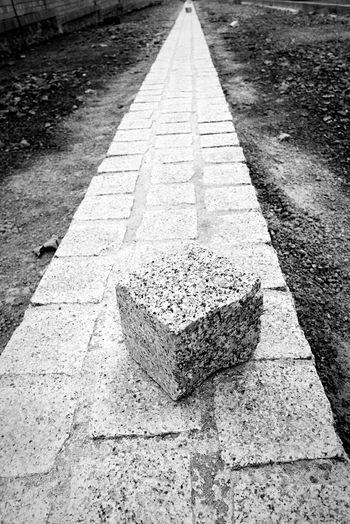 Street Art Pattern, Texture, Shape And Form Stone Art Constructionporn Urbanphotography Streetphotography Urban Geometry Open Edit Perspective Eye4black&white