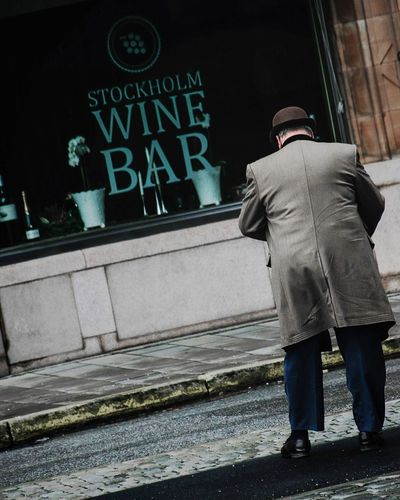 Location; Stockholm, Sweden. Text Rear View Men Standing Cold Temperature Outdoors City Adult One Man Only One Person Architecture People Day Only Men Adults Only EyeEmNewHere