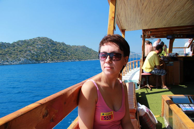 Tourist People Colors Landscape Sea And Sky Beauty In Nature Gerl Turkey Boat