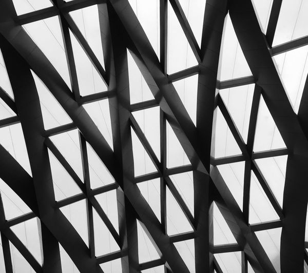 Architecture Pattern Backgrounds Full Frame Repetition Geometric Shape Detail Design Architecture And Art Architectural Design No People Abstracto Perspectiva Figuras Geometry Abstract Architectural Feature Mexico City TakeoverContrast Monochrome Photography Art Is Everywhere