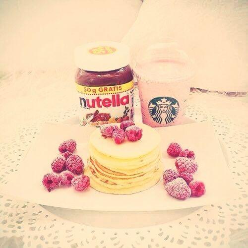 Nutella ❤ Krep Ahududu Starbucks