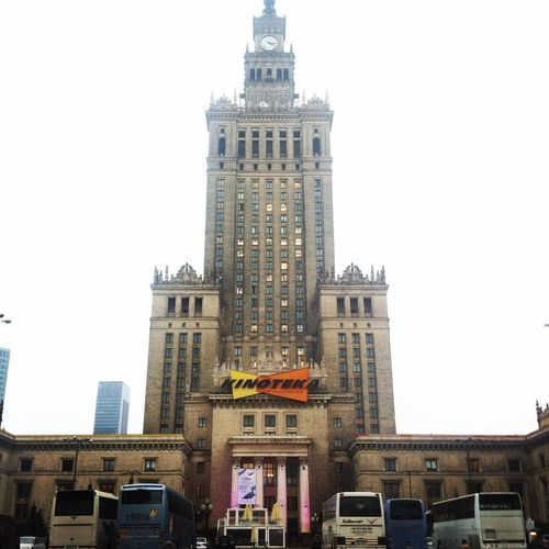 Plac Defilad in Warsaw, Poland. Architecture Built Structure Palace Of Culture & Science Tower And Congress Hall Plac Defilad Tourism Tower Travel Destinations Warsaw Poland