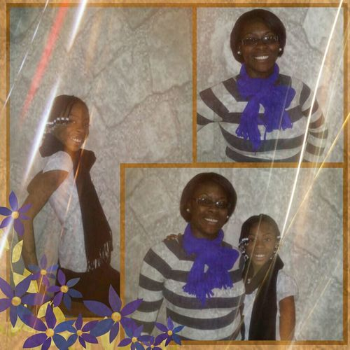 Me and Mi Favorite niece today for church ...(((: