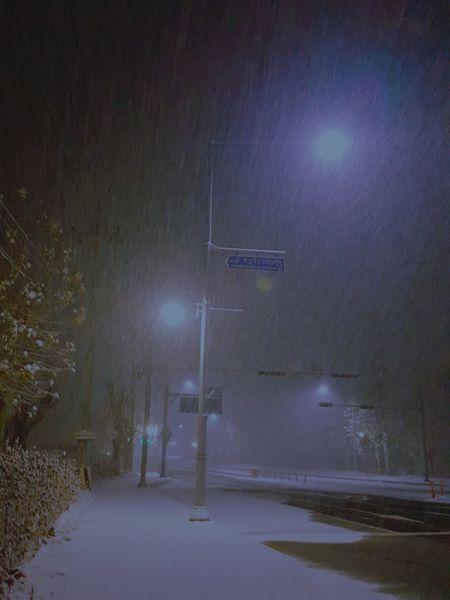 Illuminated Night Lighting Equipment Street Light Outdoors No People EyeEm Winter Snow Tree Galaxy Note 5