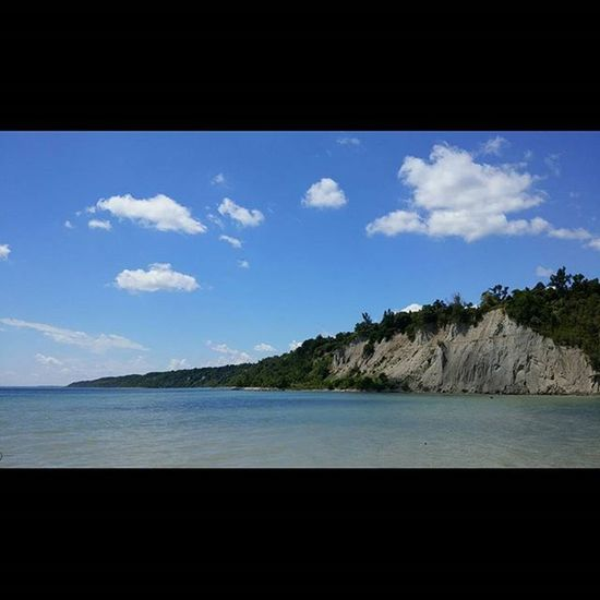Beautiful Summer day at Scarbrough Bluffs Park . Blueskies Lake Ontario Latergram