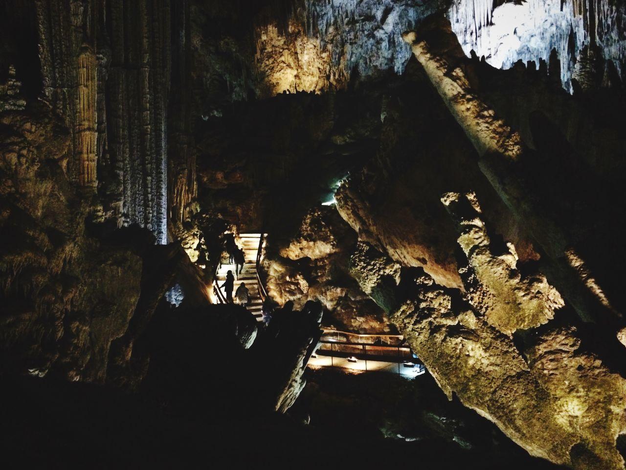 Illuminated cuevas de nerja