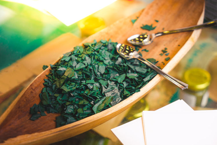Spirulina algae - spirulina is a superfood used as a food supplement source of vitamin protein