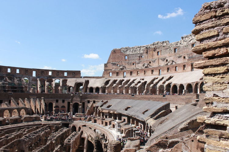 In the city of rome the symbol of the power of ancient rome, the colosseum.
