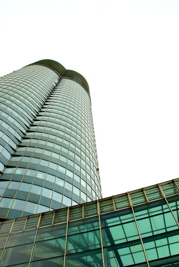 Millenium Tower, Vienna Architecture Building Exterior Built Structure City Clear Sky Day Factory Futuristic Industry Low Angle View Modern No People Outdoors Sky Skyscraper