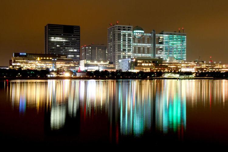 Light City Water Waterfront Sea Night Illuminated Tokyo,Japan Japan Odaiba No People Fujitv